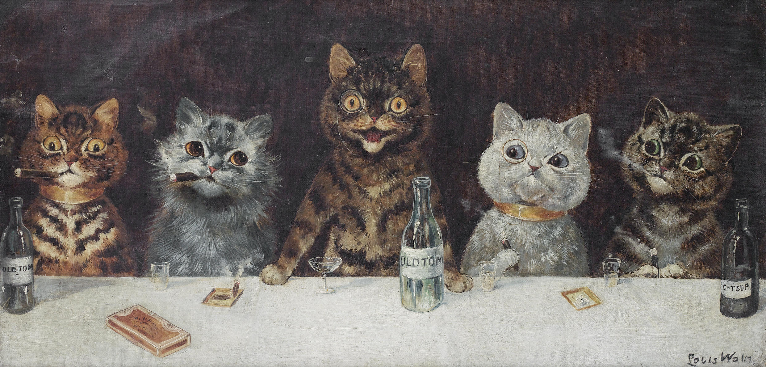 Louis Wain' The Bachelor Party'